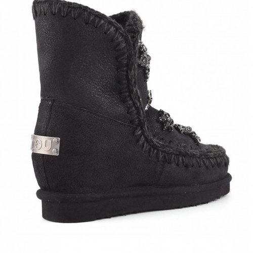 Mou Inner Wedge Short Crystal Stars Boots