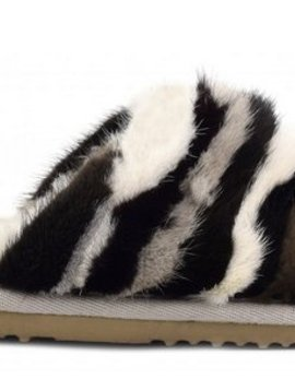 Mink Stripy Slipper