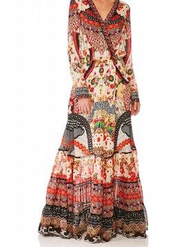 Camilla Cross Front Maxi Dress