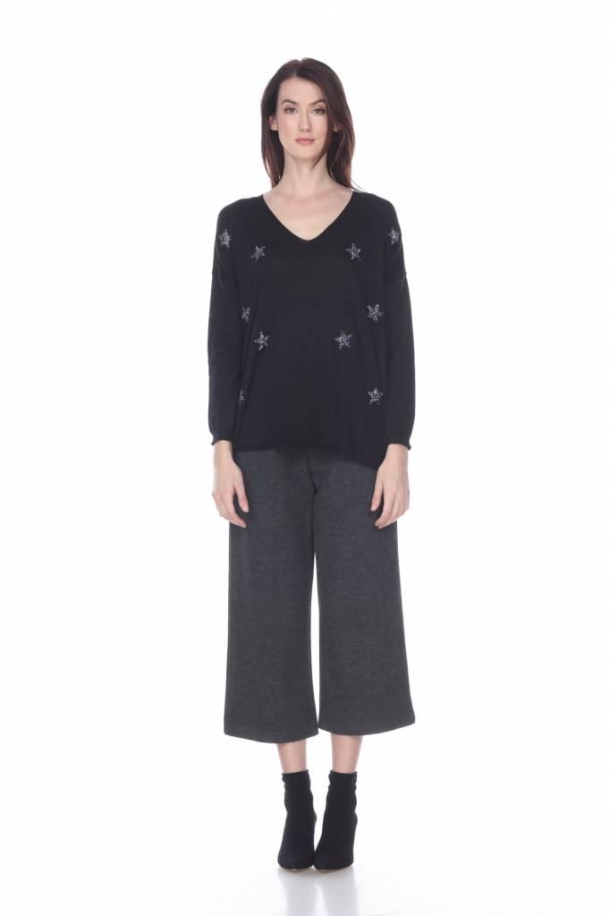 Zero Degree C. Sequin Star Sweater