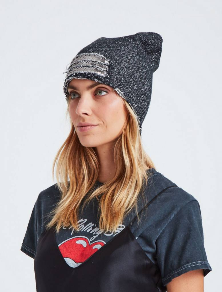 Jocelyn Slouchy Beanie With Sequins