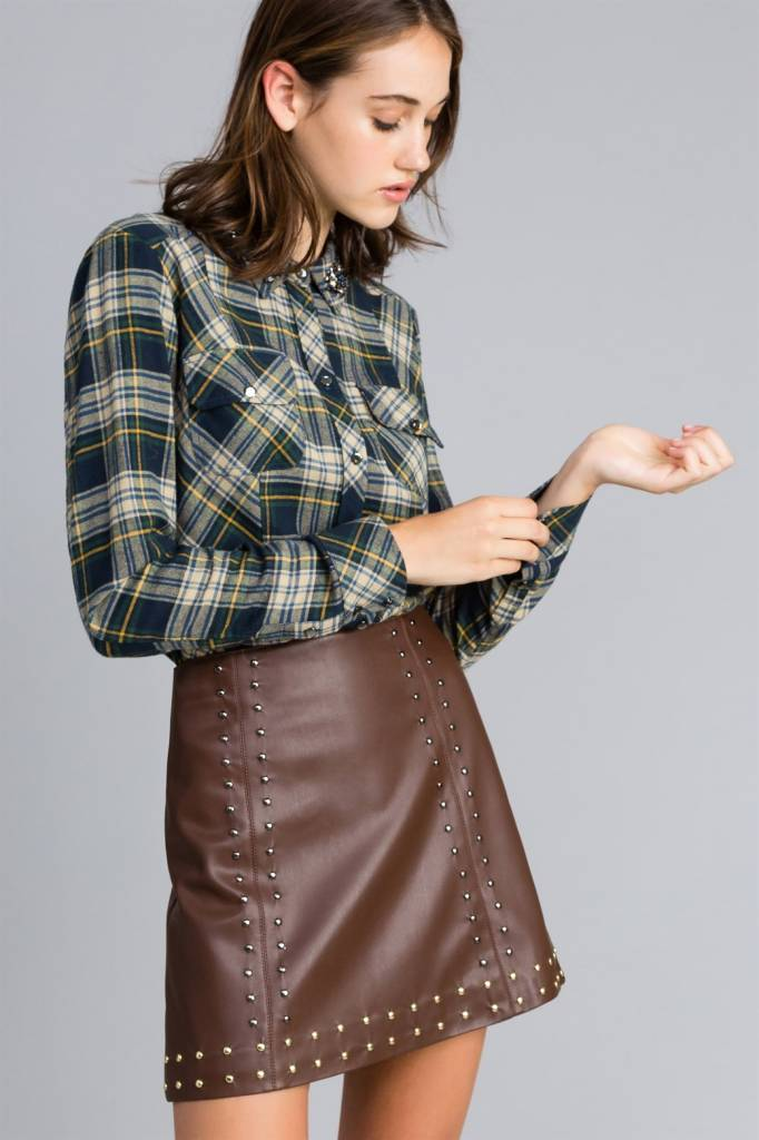 TwinSet Leather Skirt