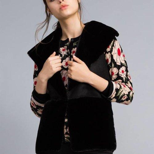 TwinSet Faux Fur Waistcoat