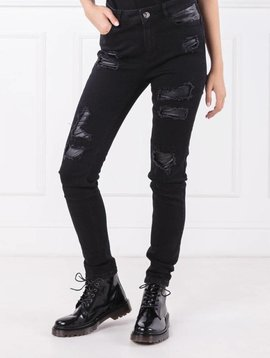TwinSet Black Ripped Jean
