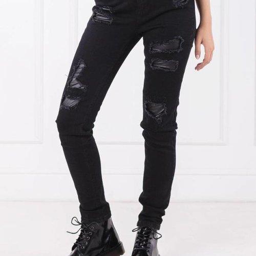 TwinSet Black Ripped Jean