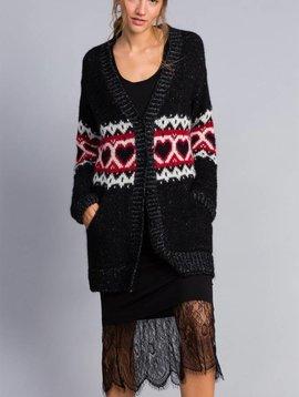 TwinSet Black Heart Sweater