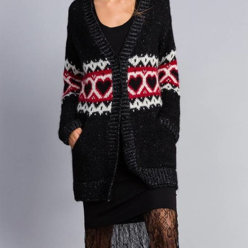 TwinSet Black Heart Sweater