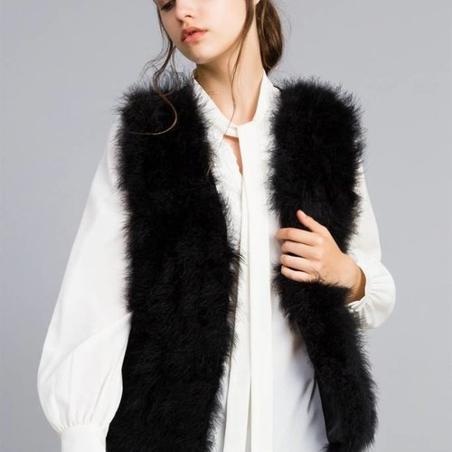 TwinSet Feather Waistcoat