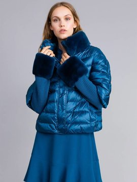 TwinSet Blue Puffer Jacket