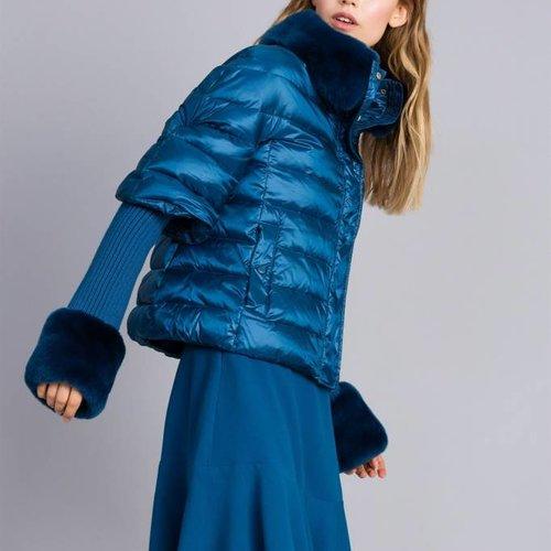TwinSet Blue Puffer Jacket