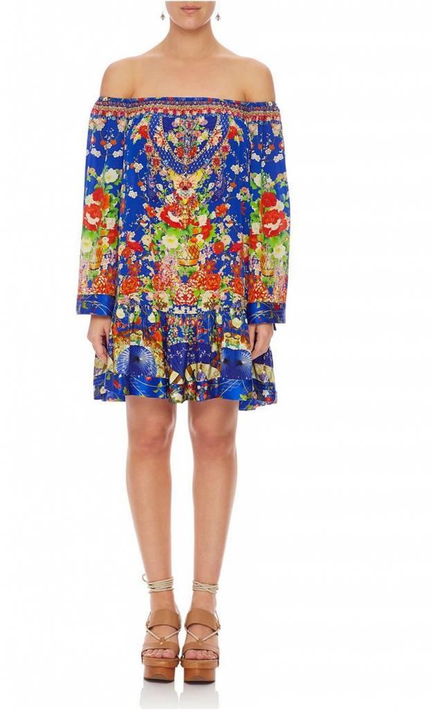 Camilla Off Shoulder Frill Hem Dress