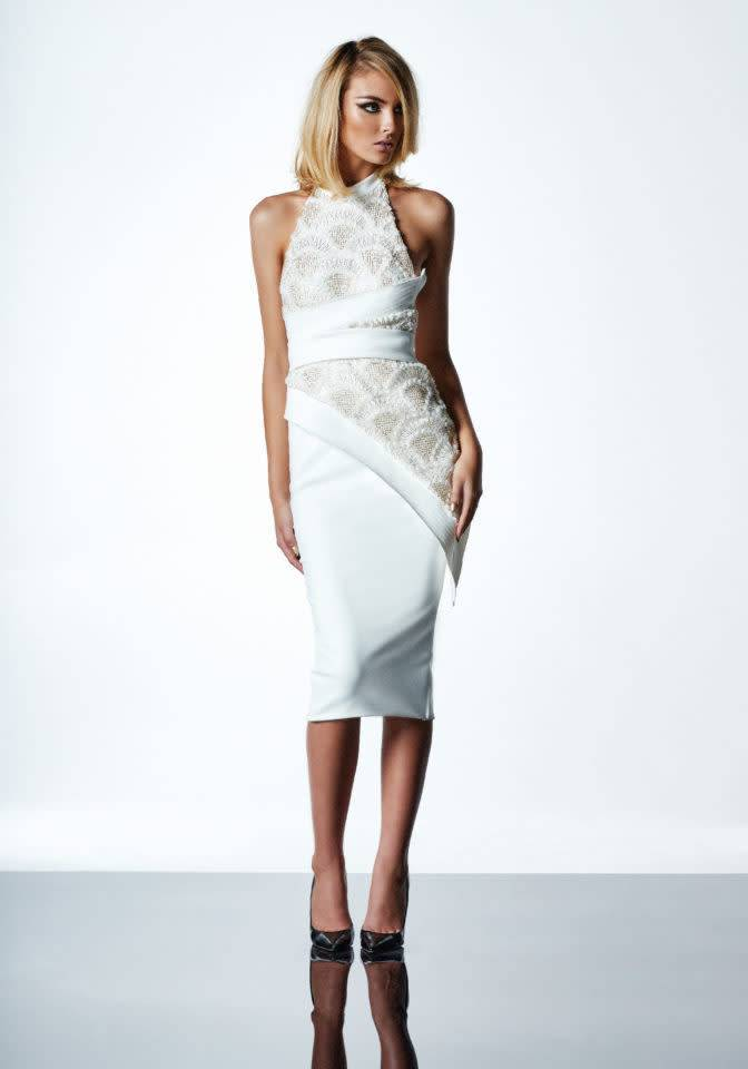 ZHIVAGO Little Havana Dress in White/Gold