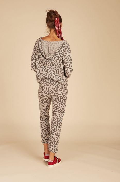 Vintage Haviana Twist Front Leopard Hoodie