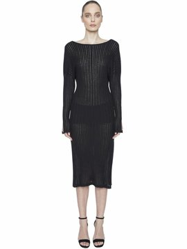Maison de Papillon Cassie Ribbed Dress