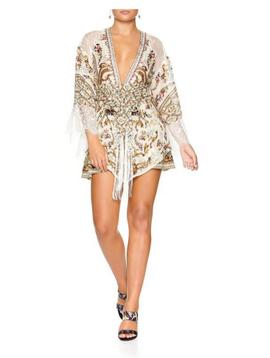 Camilla Kimono with Embroidery Insert