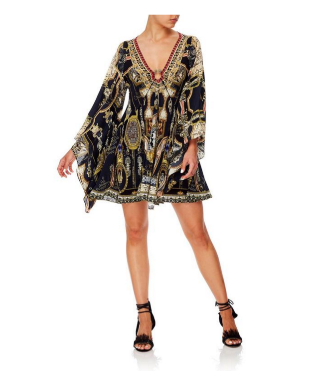 Camilla U-Ring Dress w Kimono Sleeve