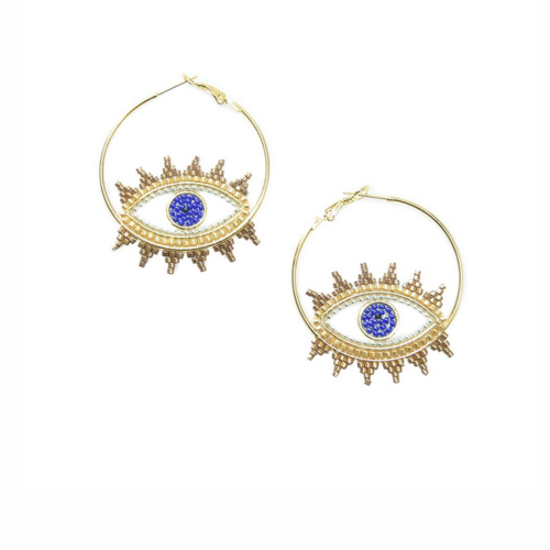 Mishky Evil Eye Hoops Earring