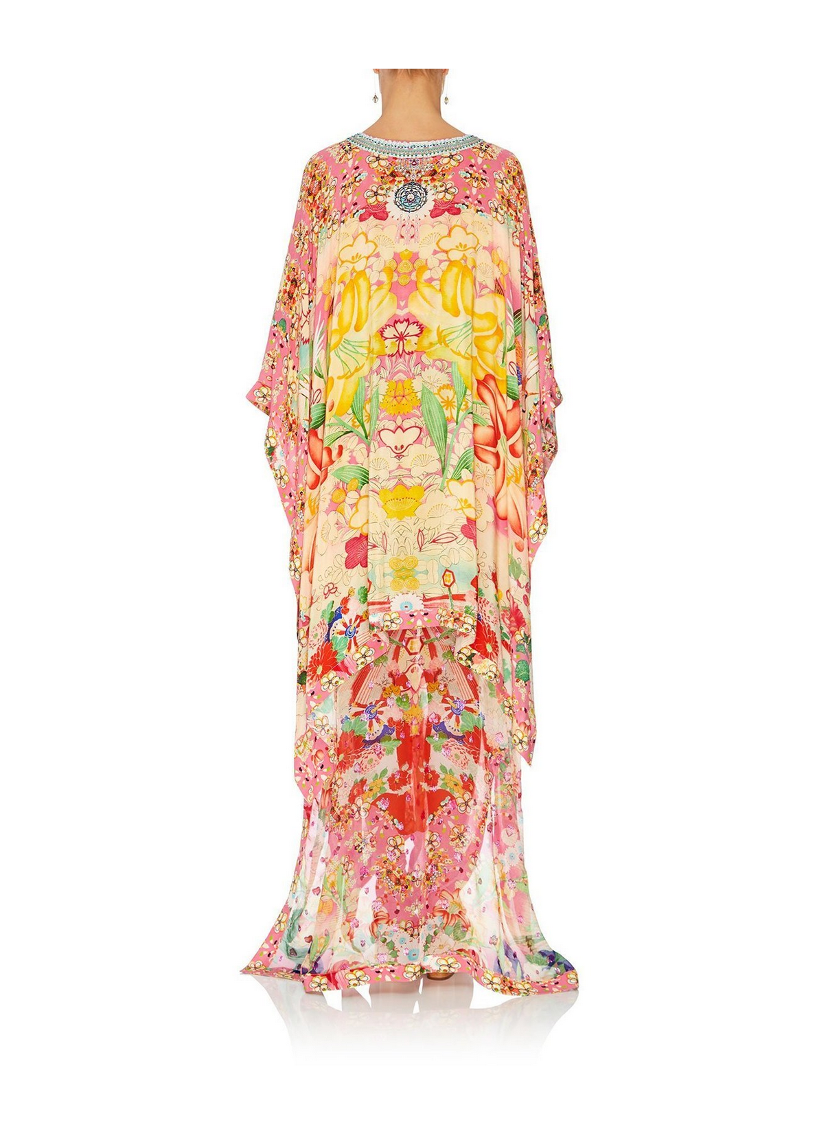 Camilla High Low Hem V-Neck Kaftan