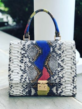 Indo Exotics Elisa Bag Natural w/ Multi