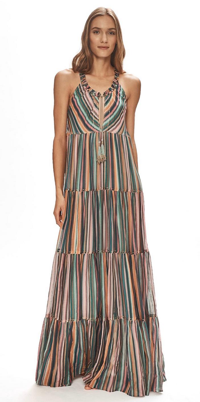 Love Sam Winnie Stripe Maxi Dress