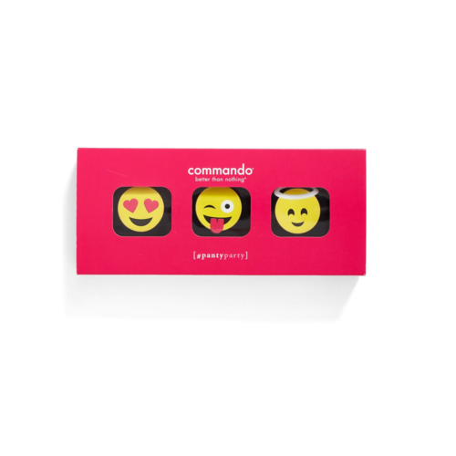Commando 3pk-Panty Party Emoji