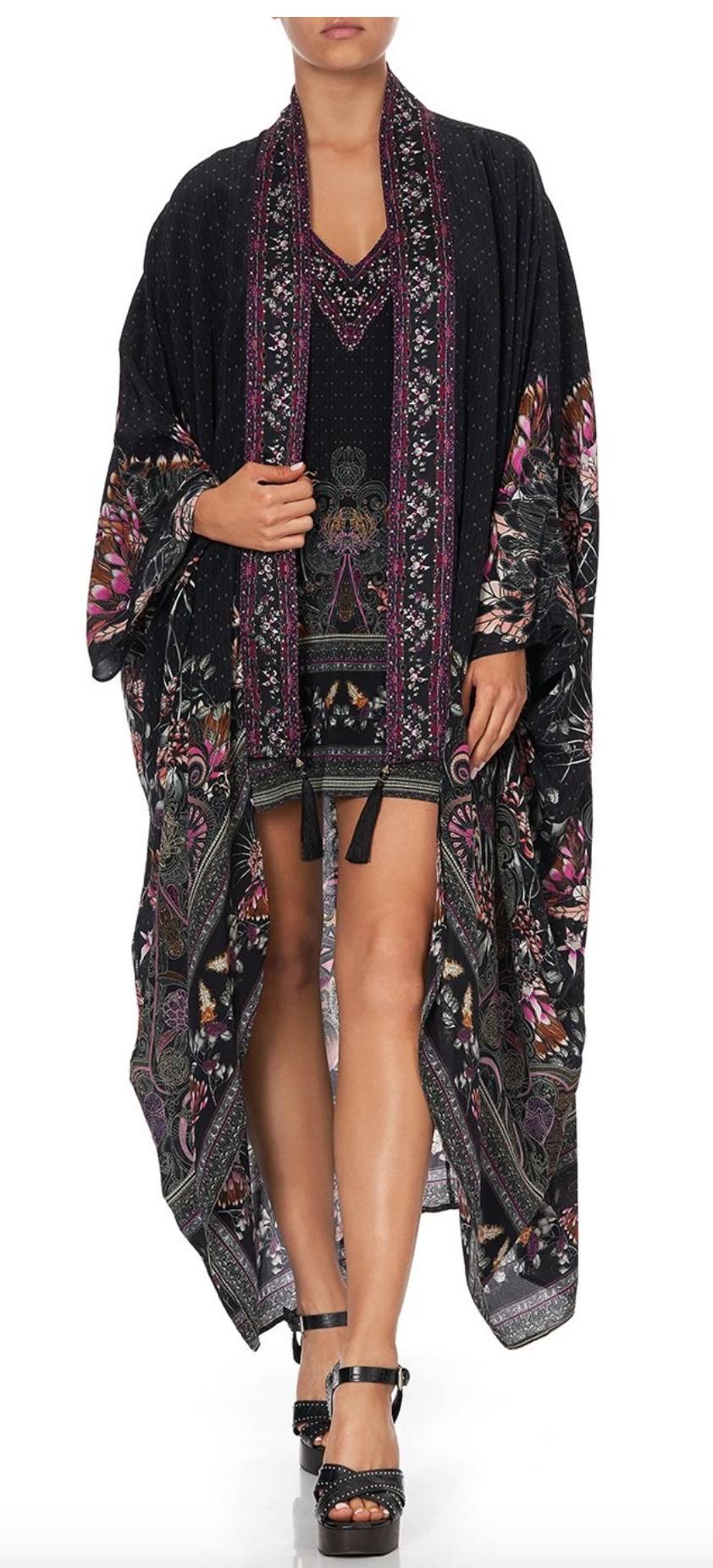 Camilla Layer W/ Kimono Collar