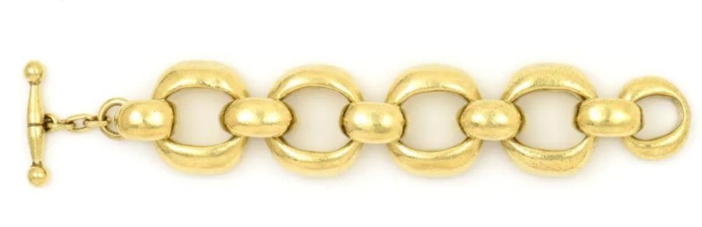 Vaubel 5 Oval Circle Bracelet 14KGP