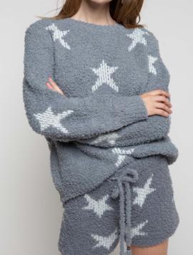 POL Clothing Pol Clothing Grey White Star