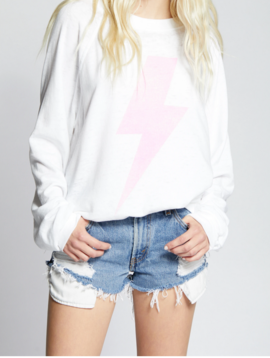 Recycled Karma ACDC Pink Oversized Bolt Sweater