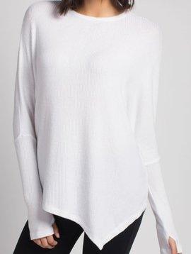 Sen Claxton Long Sleeve with Asymmetrical Cut Cut