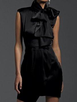 Sen Sleeveless Dress with Tie Neck