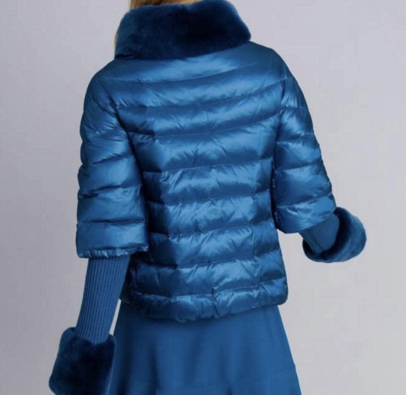 TwinSet TwinSet Blue Puffer Jacket