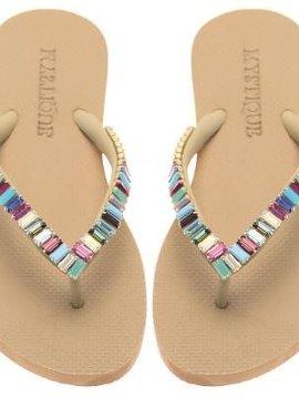 Custom Made Multi Jeweled Stone Flip Flop