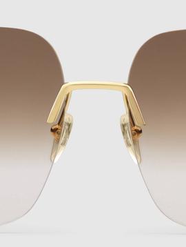 Gucci Gucci Square Metal Sunglasses