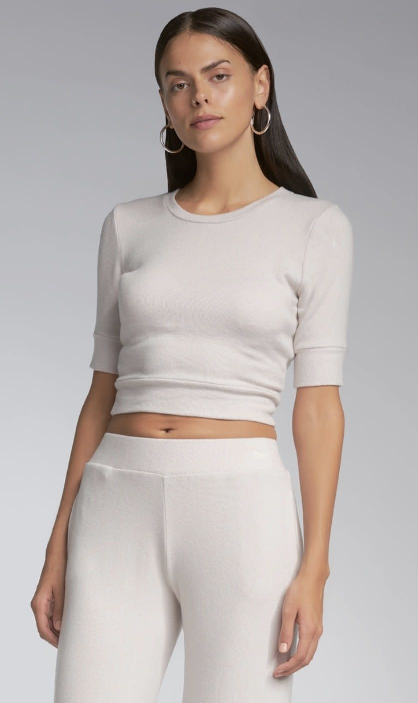 Sen Cropped Short Sleeve Top