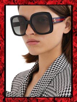 Gucci Eyewear Web-Detail Square-Frame
