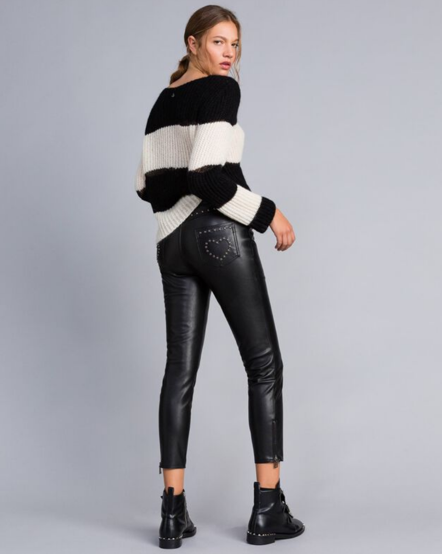 TwinSet Leather Pant