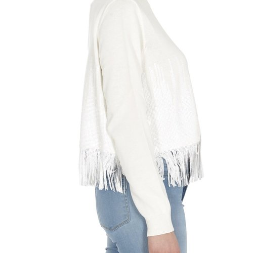 Fringe Sweater with Sequins