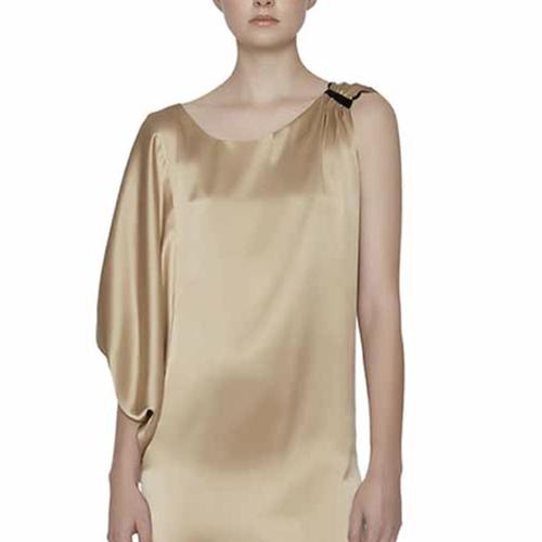 Maison de Papillon Sierra Reversible One Shoulder Silk Dress
