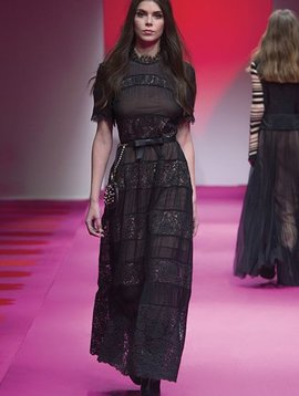 TwinSet Nero Woven Maxi Dress