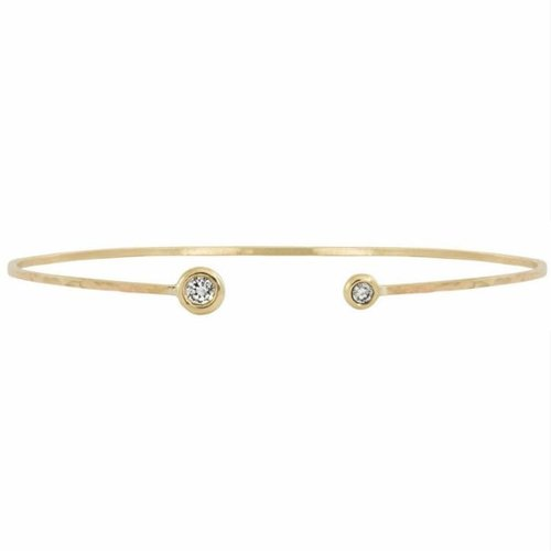 Julez Bryant 14K WIRE PADDLE BRACELET WITH 2 DIAMONDS