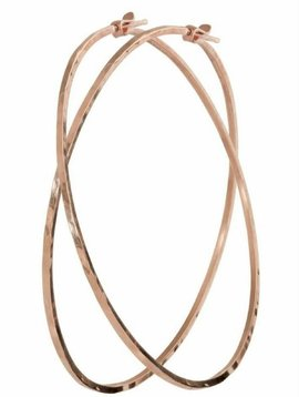 Julez Bryant Medium Hammered Charm Hoops