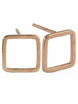 Julez Bryant Pesh Earrings 14k Baby Square