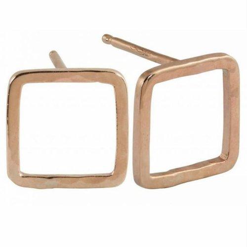 Julez Bryant Pesh Earrings 14k Baby Square