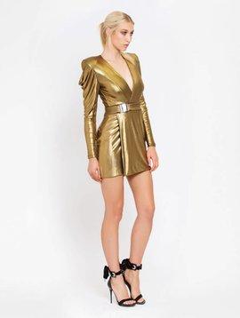 ZHIVAGO Standing on Stardust Dress in Gold