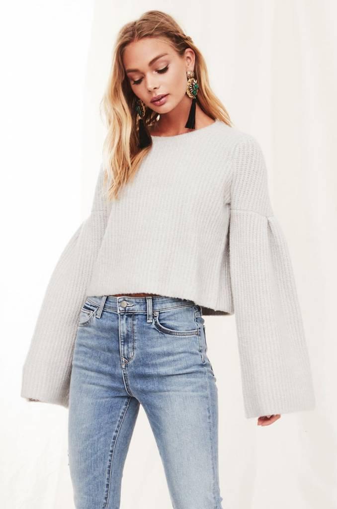 Lovers + Friends Maxine Sweater in Warm Grey