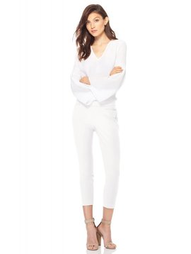 ECRU Madison Crop Pants in White