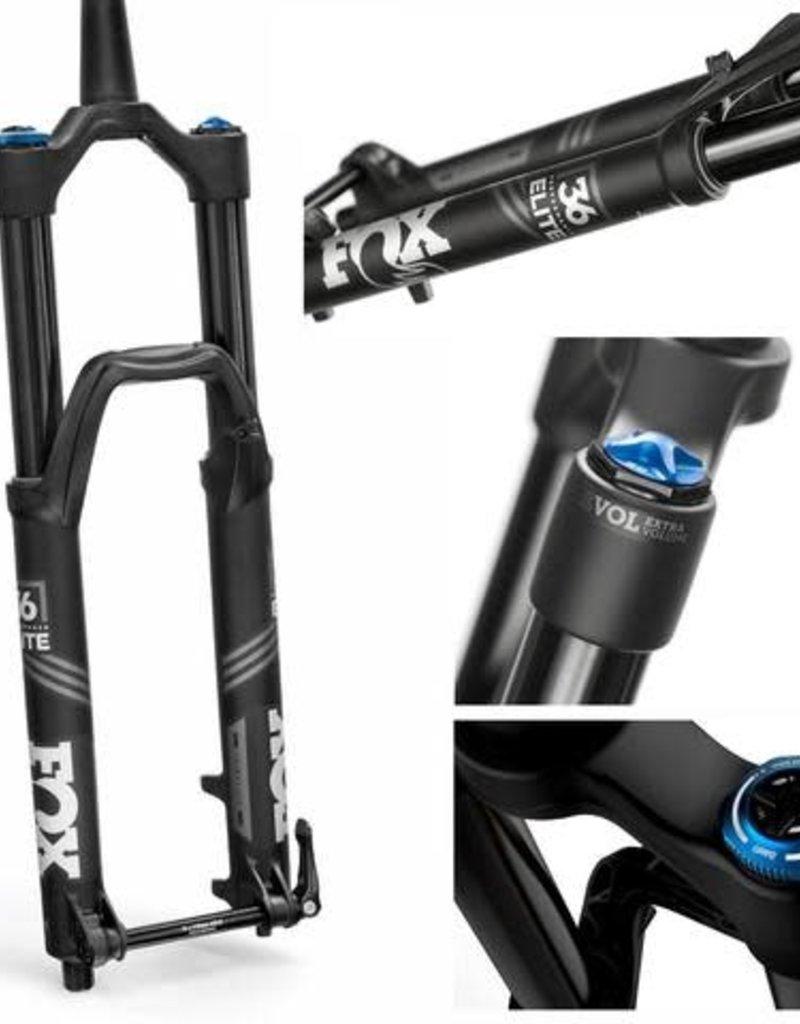 "Fox Racing Shox 2019 Fox FLOAT 36 160 Grip 2 27.5"" 15QRx110 BOOST 1.5 Tapered Matte Black 44mm Ano Performance Elite Fork"