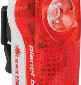 Planet Bike LED Superflash Taillight: Red/White