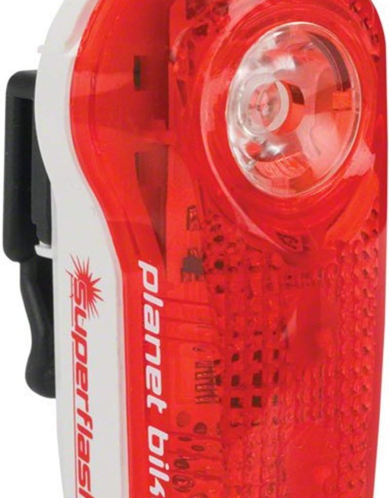 Planet Bike LED Superflash Taillight: Red/White